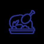 Carnes brancas magras: frango, peru, coelho, porco